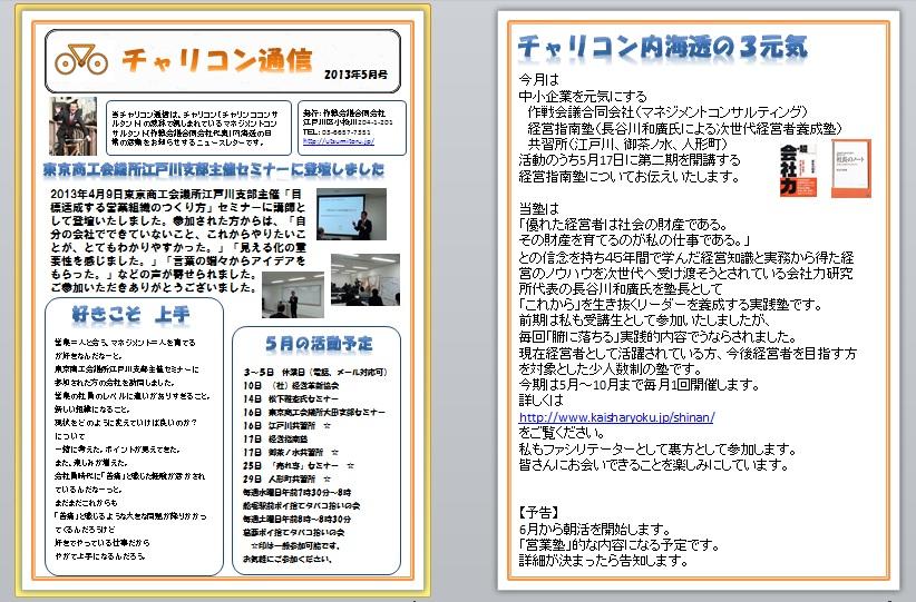 チャリコン通信201305