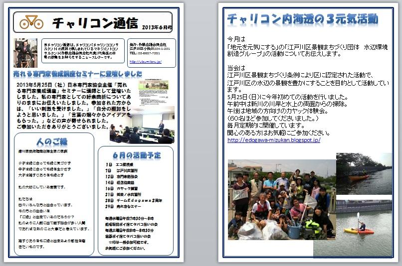 チャリコン通信201306